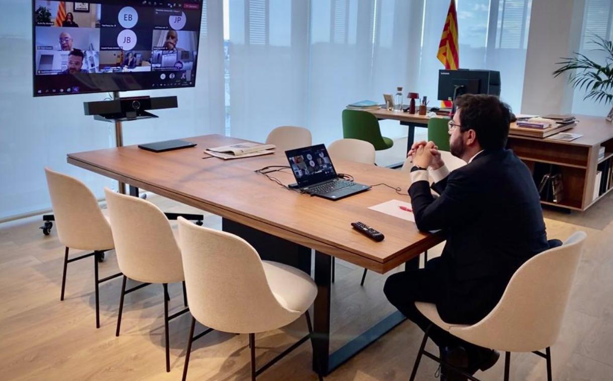 El president interí de la Generalitat, Pere Aragonès