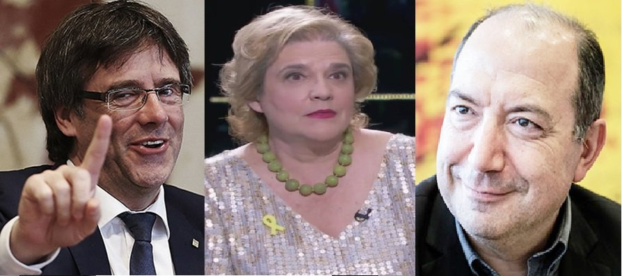 Carles Puigdemont, Pilar Rahola i Vicent Sanchis