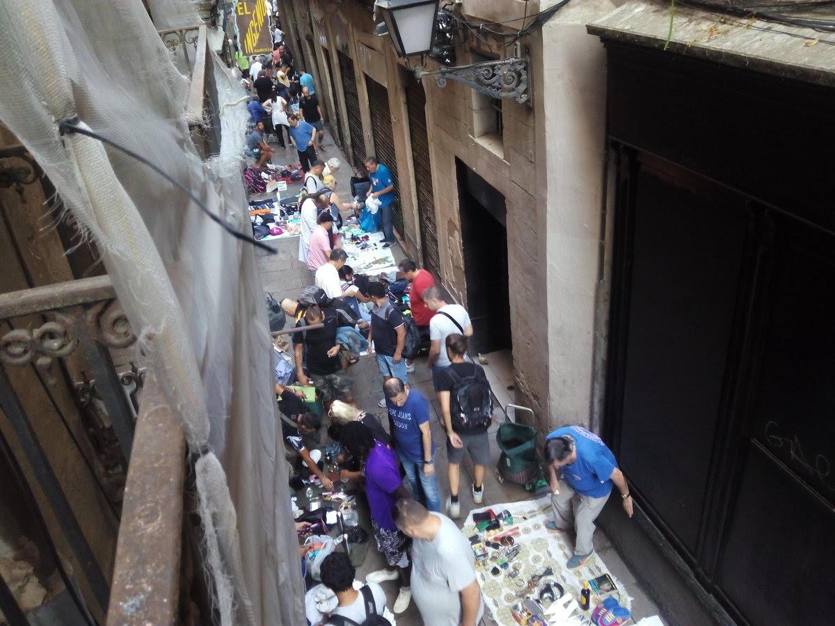 Calle Rauric del Raval de Barcelona