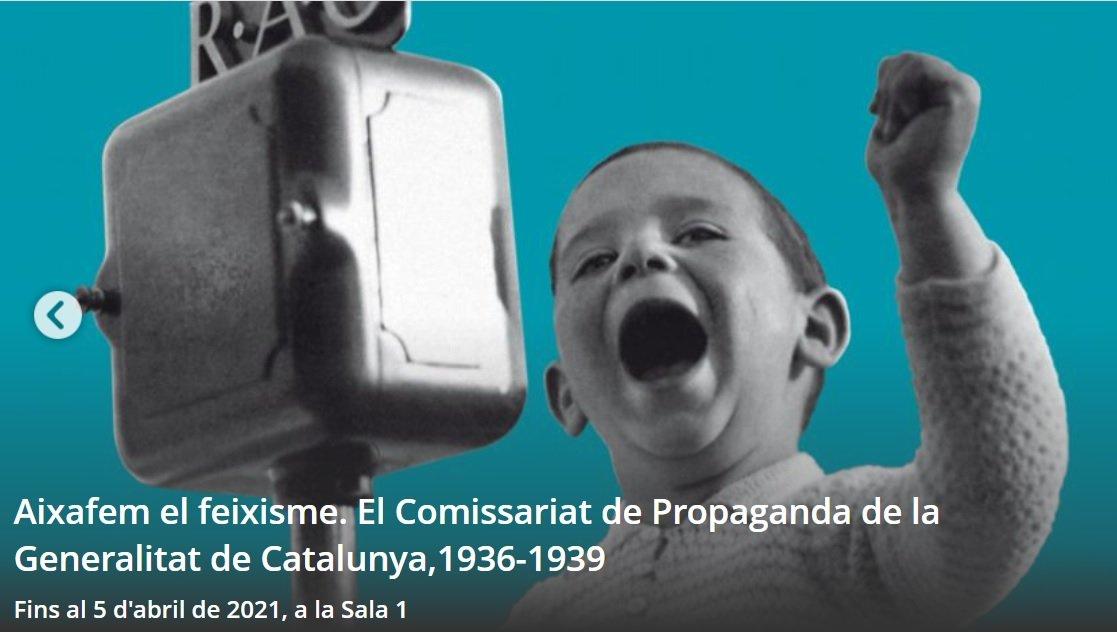 Cartell de l'exposició 'Aixafem el feixisme', que es pot visitar al Palau Robert des del 5 de novembre