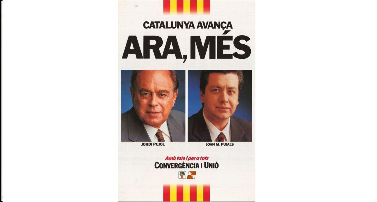 Cartel de las elecciones al Parlament de Catalunya en 1992