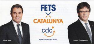 Cartel electoral de CDC, con Artur Mas y Carles Puigdemont