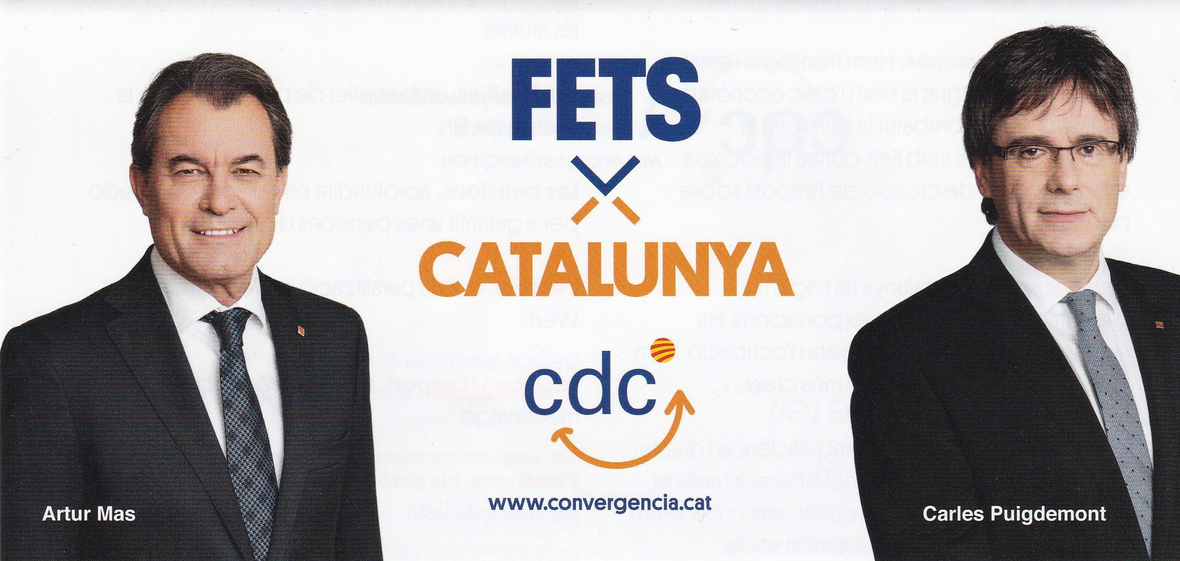 Cartell electoral de CDC, amb Artur Mas i Carles Puigdemont