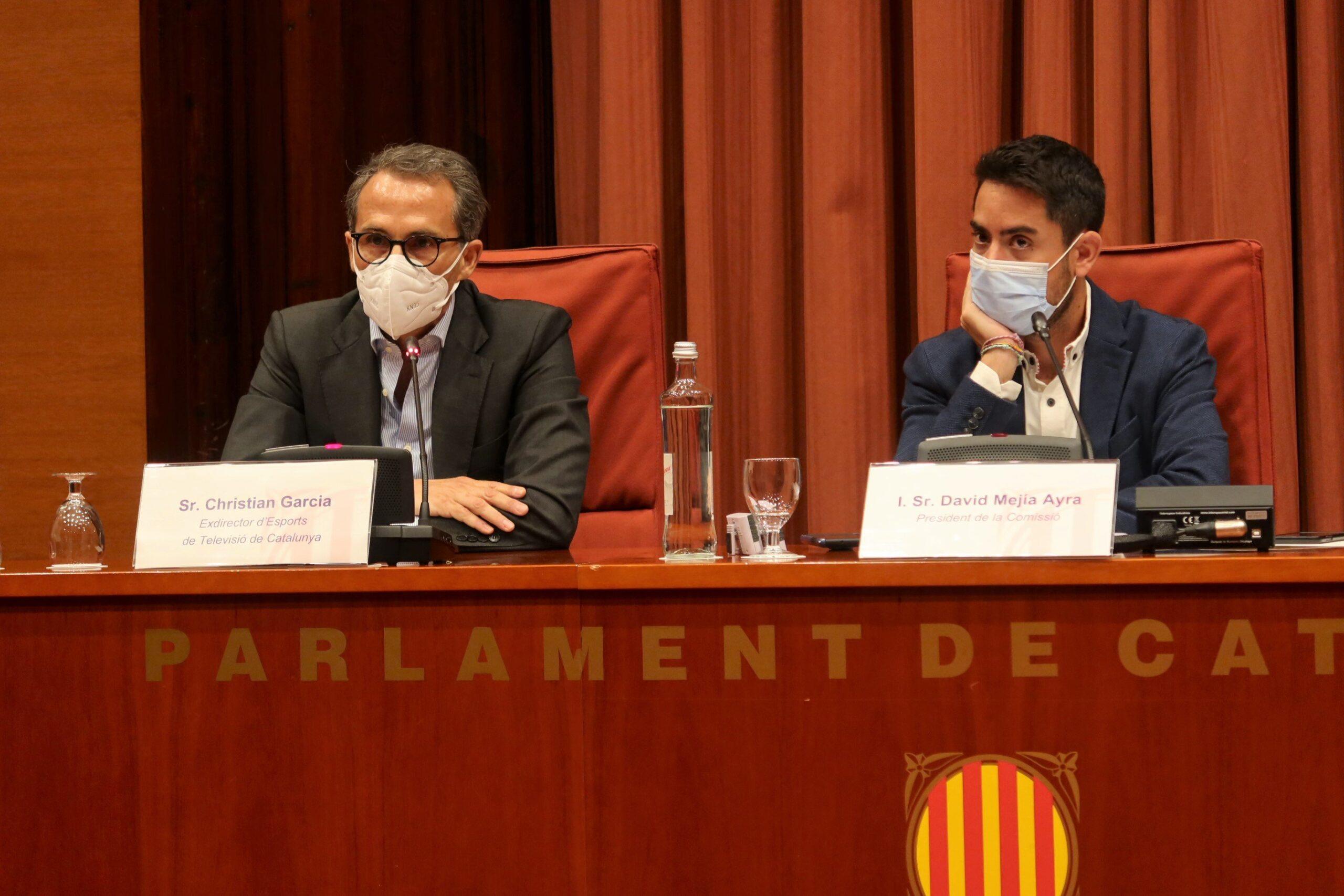 El exdirector de Deportes de la CCMA, Christian García, durante su co