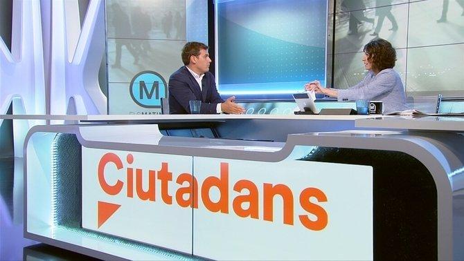 Albert Rivera i Lídia Heredia als Matins de TV3