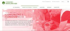 Portal de 'Comunidad y Convivencia' del consorcio Badalona Sur