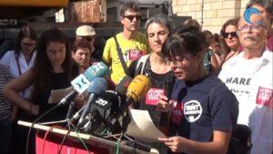 Acto contra la Ley Aragonès en la plaza de sant Jaume