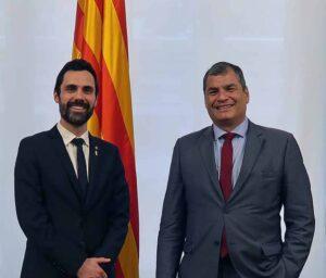 Roger Torrent Rafael Correa