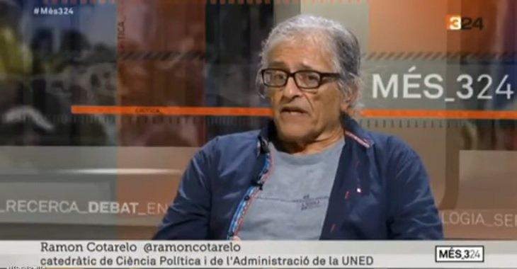 Ramon Cotarelo en una intervenció al programa Més324 de Tv3