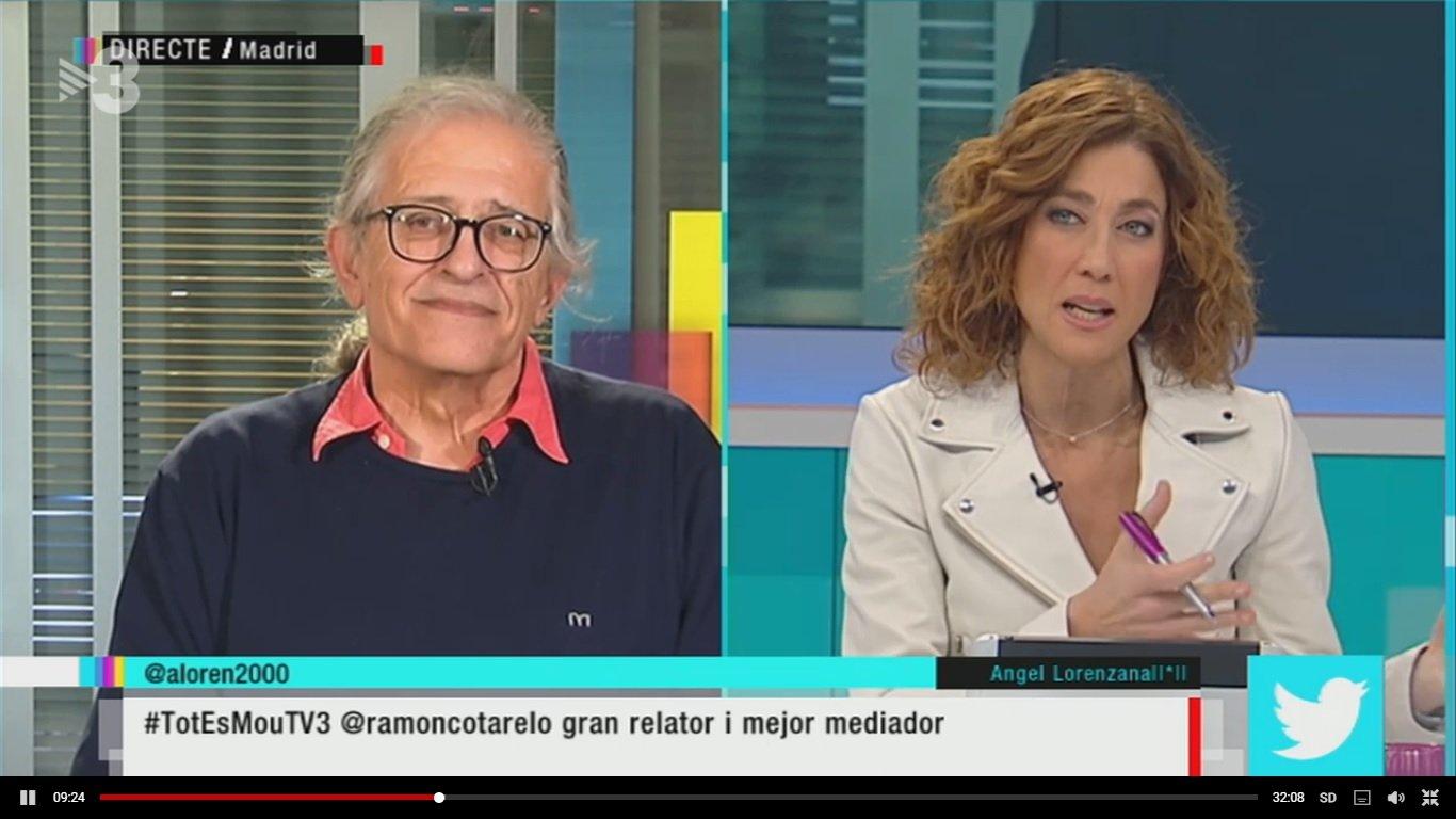 Ramon Cotarelo i Helena García Melero al programa 'Tot es mou' de TV3