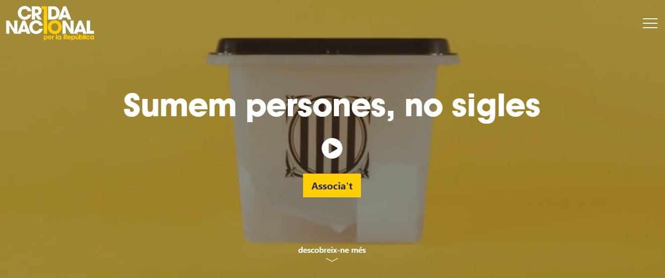 Imatge de la web de la Crida Nacional per la Repúblilca