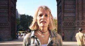Cristina de Haro, en un vídeo promocional de la Crida