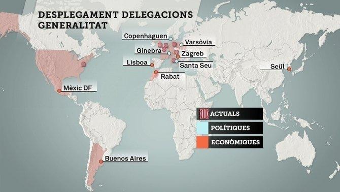 Delegaciones de la Generalitat en el extranjero