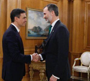 Pedro Sánchez, Rei Felip VI