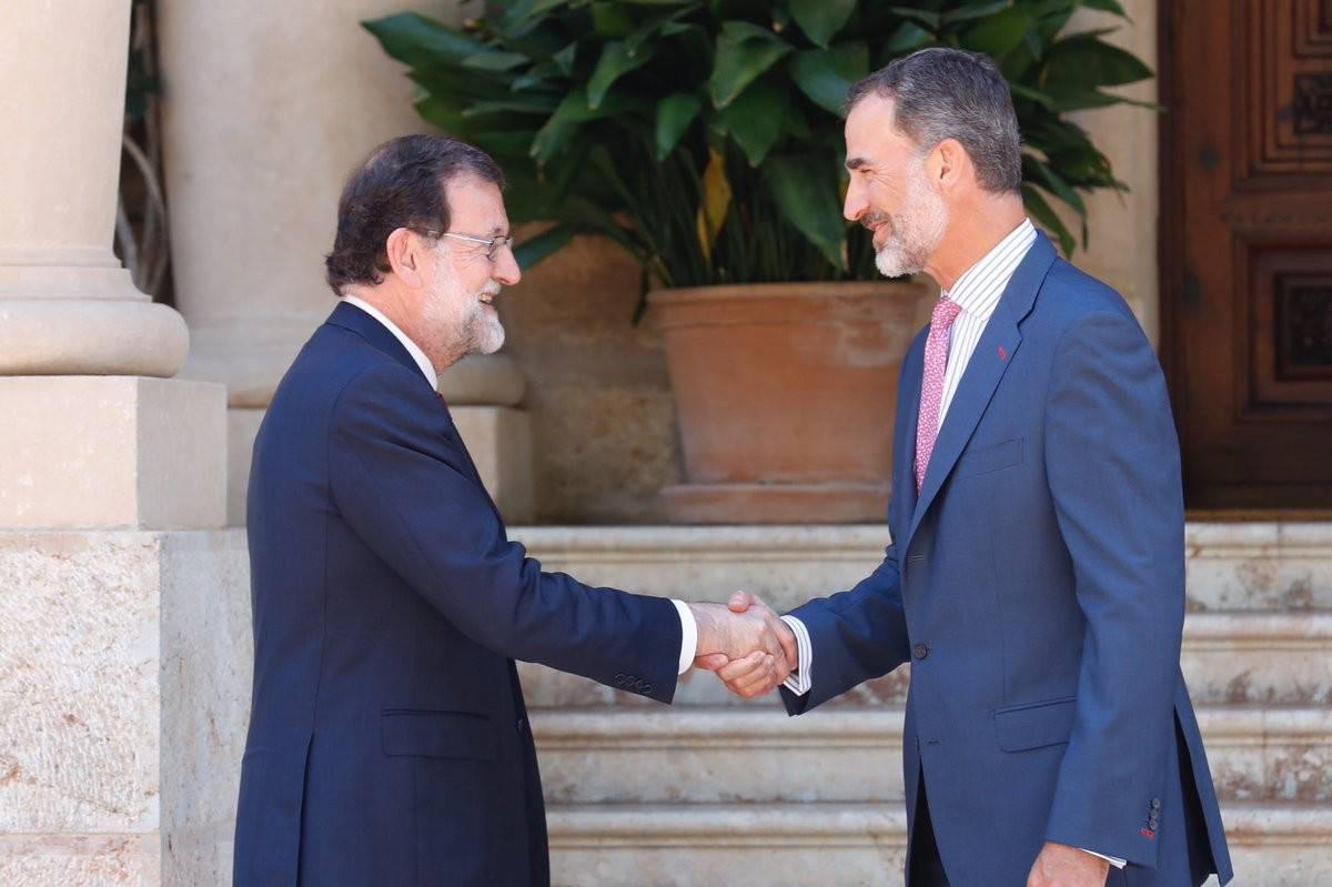 Rei amb Rajoy