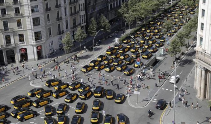 Vaga de taxistes a Barcelona