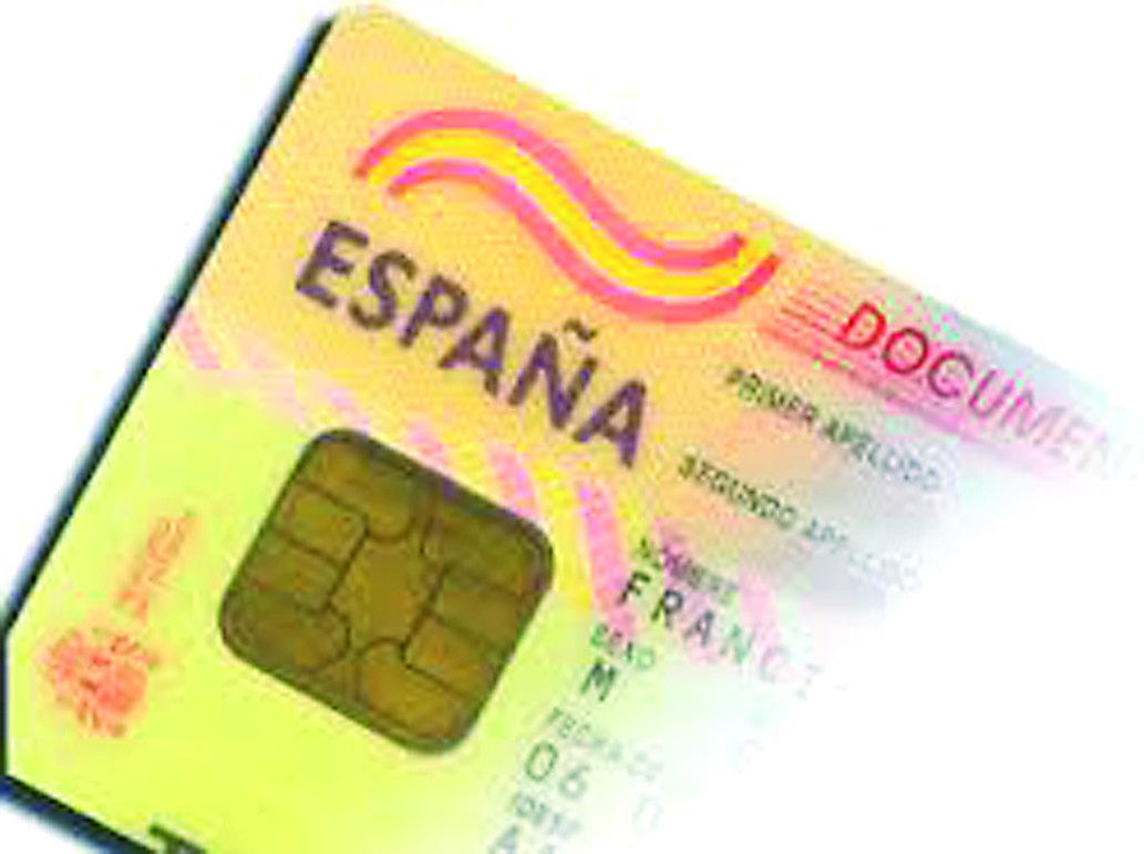 Fragmento de un documento nacional de identidad español
