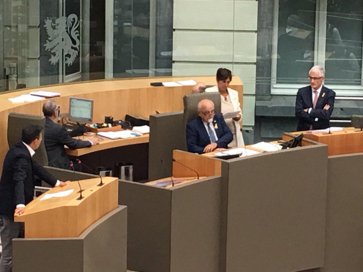 Debate en el Parlamento de Flandes