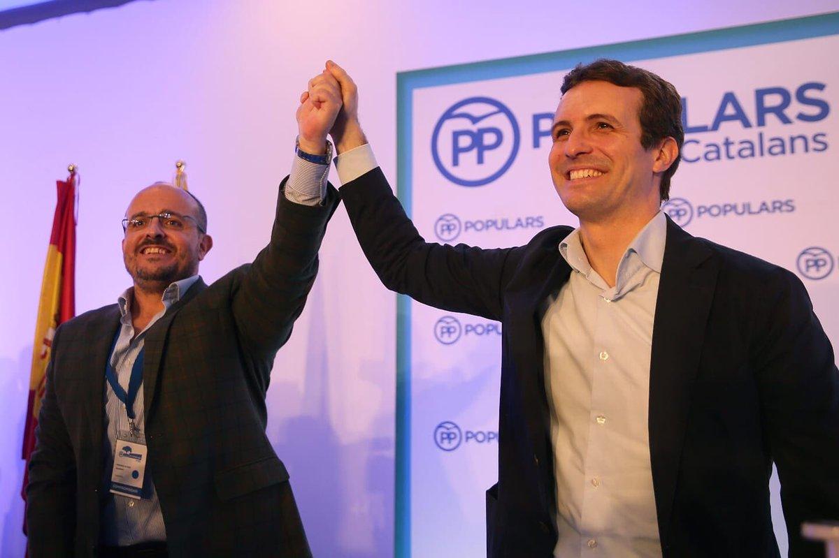 Alejandro Fernández con Pablo Casado
