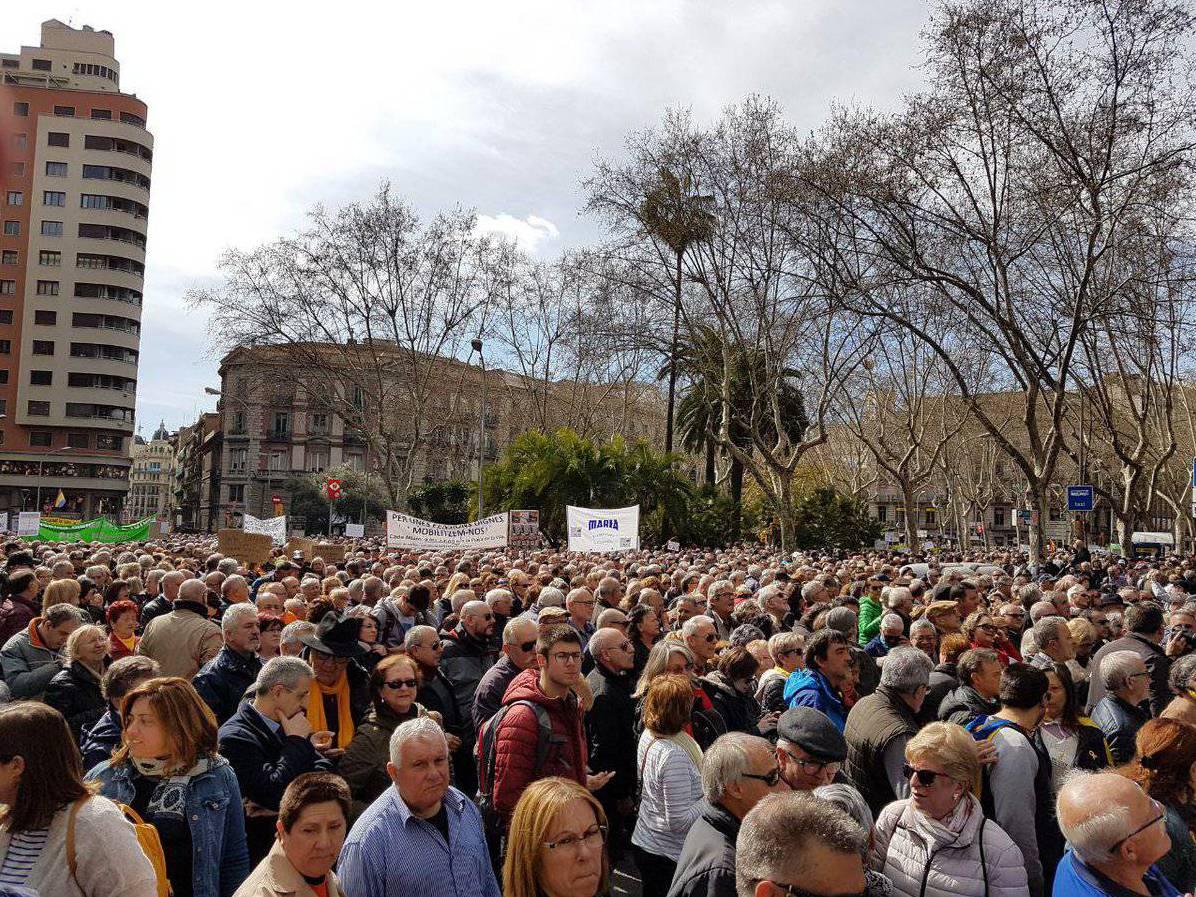 Manifestació jubilats