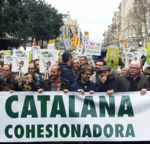 Manifestació escola catalana
