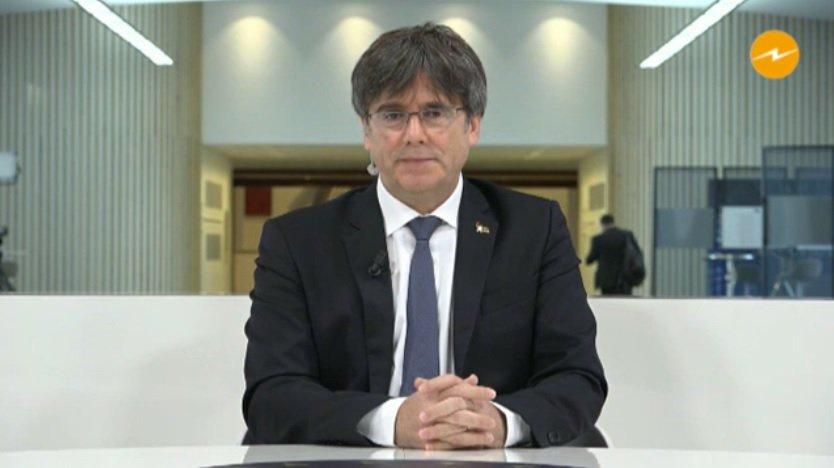 Carles Puigdemont, durante su última entrevista en Catalunya Ràdio
