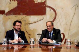 El vicepresident Aragonès i el president Torra