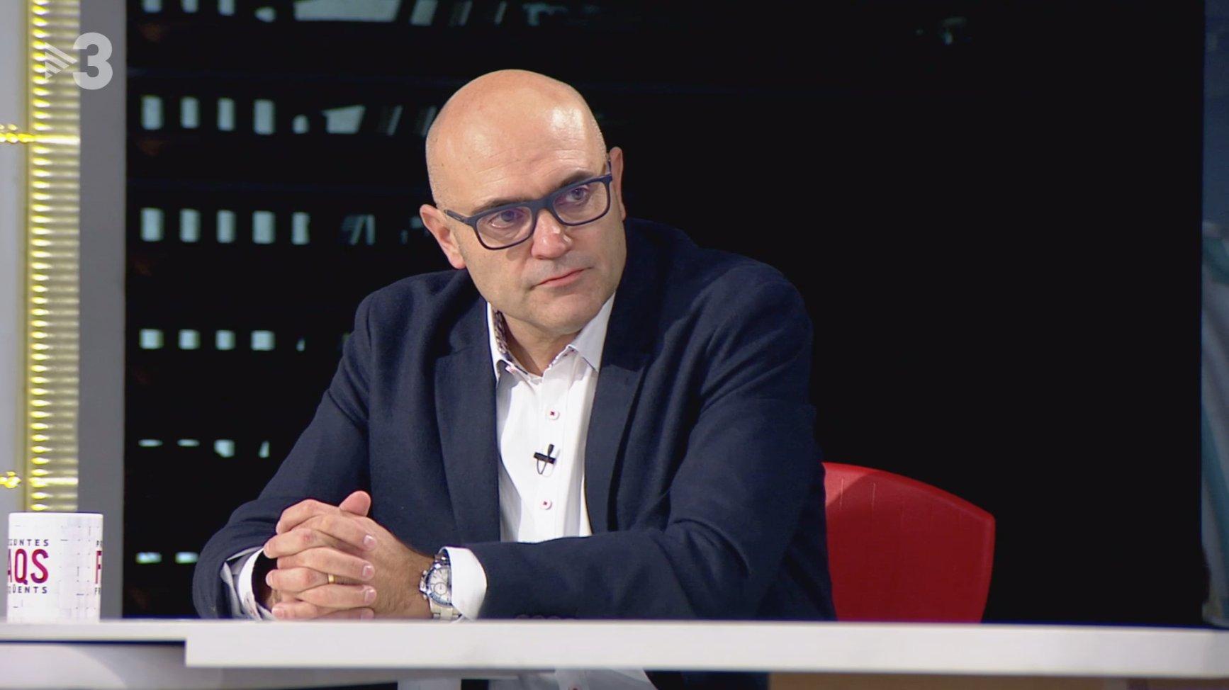 Xavier Vendrell, en el 'FAQs' de TV3