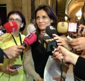 Gemma Calvet, aquest dimecres al Parlament