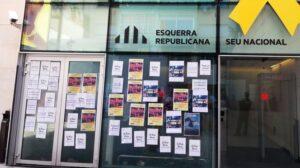 Escrache en la sede de ERC
