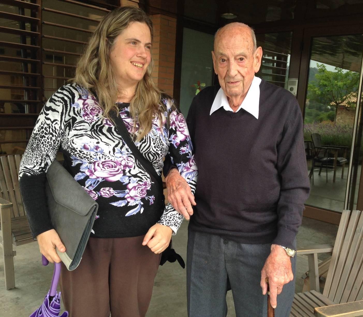 Sebastià Estradé i la seva advocada, Montserrat Badia