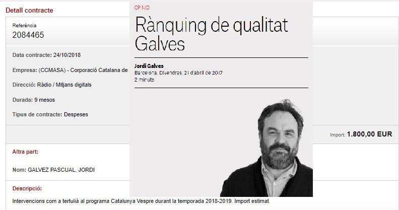 Jordi Galvesen Eal Nacional. Jordi Galvez en la CCMA