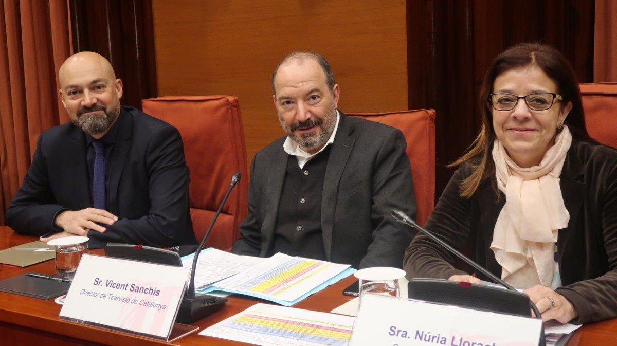 Gordillo (Catalunya Ràdio), Sanchis (TV3) i Llorach (CCMA)