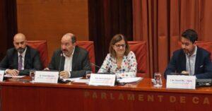 Saül Gordillo, Vicent Sanchis y Núria Llorach, en la comisión de cono