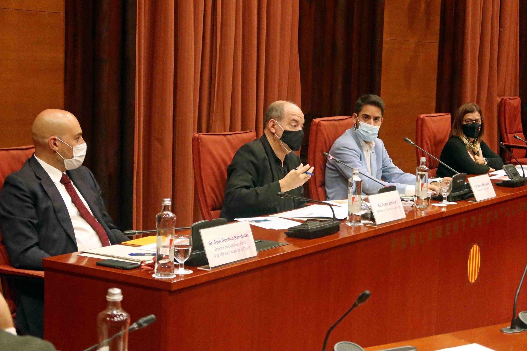 Saül Gordillo, Vicent Sanchis i Núria Llorach, a la comissió de con