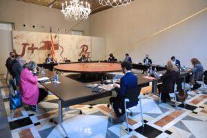 Reunión del gobierno de la Generalitat