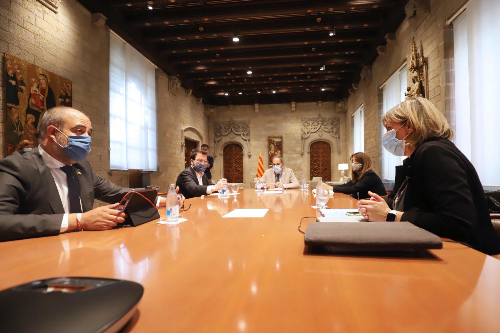 Reunión del gobierno catalán