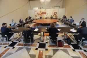 Reunión extraordinaria del gobierno catalán celebrada este...