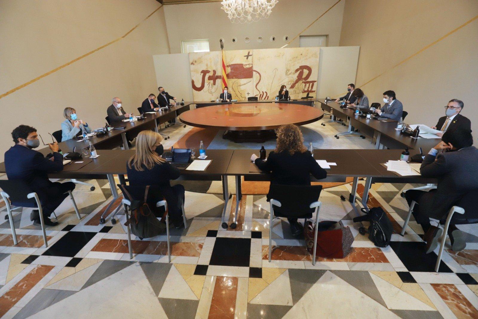 Reunió extraordinària del govern català celebrada aquest dijous, 29