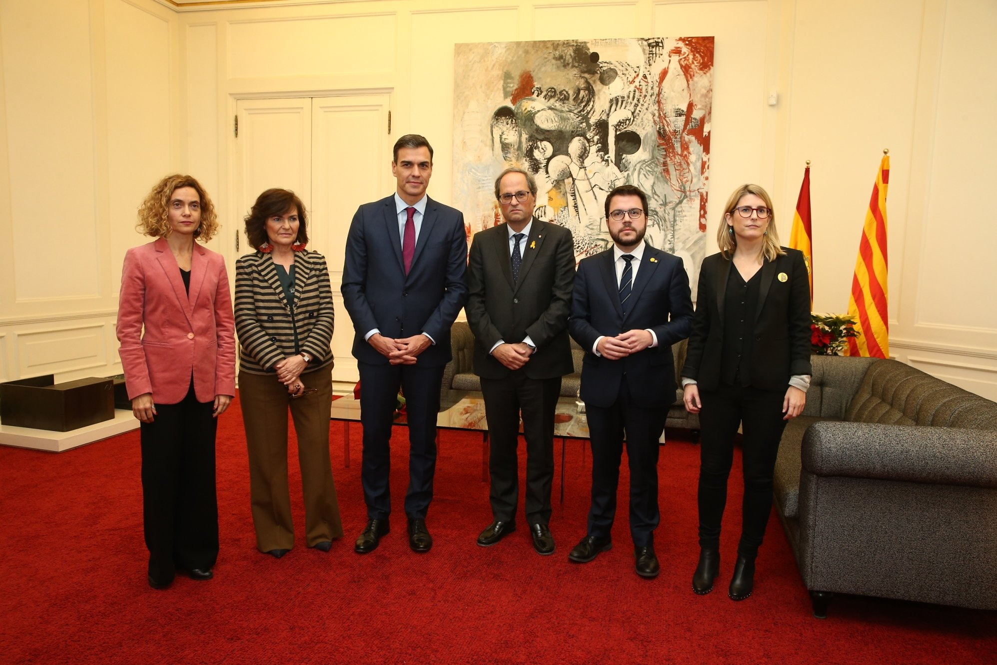 Batet, Calvo, Sánchez, Torra, Aragonés y Artadi