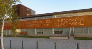 Fachada del Hospital de La Cerdanya, en Puigcerdà