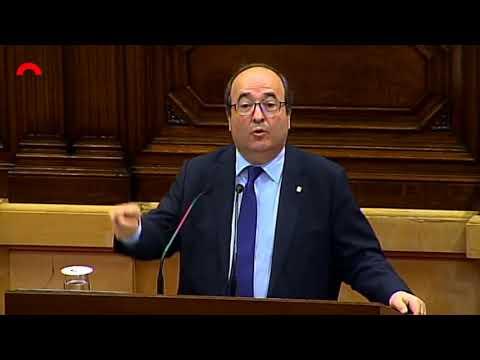 Miquel Iceta, en una intervención reciente en el Parlament de Catalunya