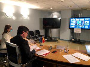 Reunió telemàtica del ministre de Sanitat, Salvador Illa, amb els ho