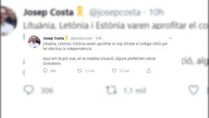 El tuit de Josep Costa