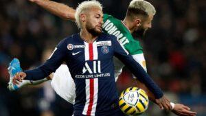 Imatge d'un partit de futbol de la primera divisió francesa