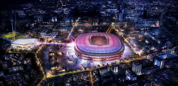 Imatge de com seria l'Espai Barça de nit