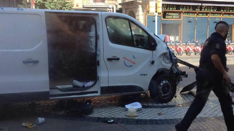 Cotxe atemptat Barcelona