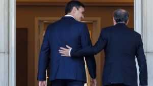Pedro Sánchez con Quim Tuesta