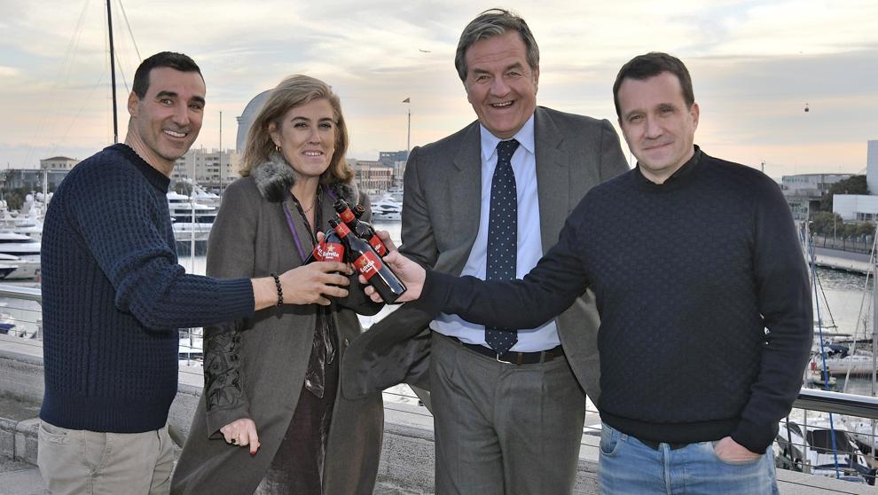 Miguel Vicente (Barcelona Tech City), María Carceller (Damm), Jorge
