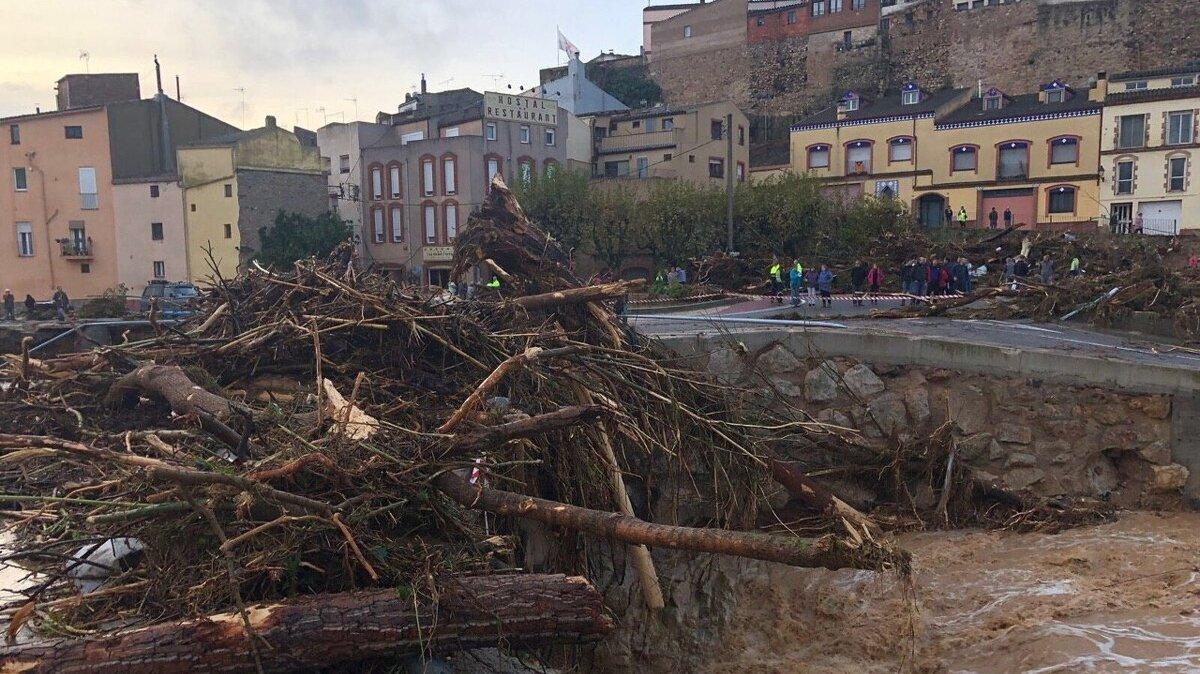 Inundacions a l'Espluga de Francolí